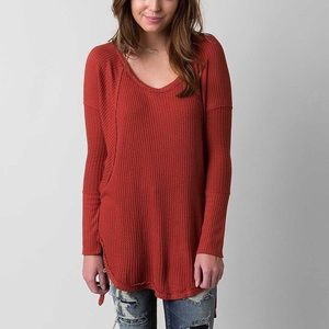 Free People Ventura Drippy Waffle Knit Thermal Top